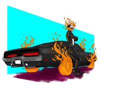 New Ghost Rider, Ghost Rider Marvel, Marvel Art, Marvel Comics, Marvel Venom, Ghost Rider Pictures, Spirit Of Vengeance, Rwby Bumblebee, Norse Mythology