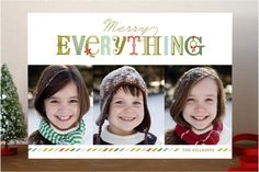 Merry Everything Bright Holiday Photo Cards by Lau...   Minted