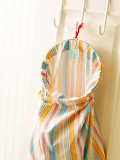 DIY Laundry Bag from Pillow Case and Embroidery Hoop