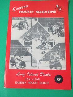 Vintage 1967-1968 Long Island Ducks Souvenir Hockey Magazine Program