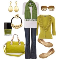 """green & gold"" by htotheb on Polyvore"