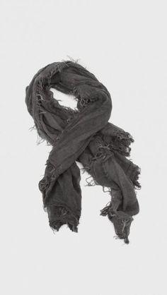Rag & Bone Sheer Stripe Scarf in Black | The Dreslyn
