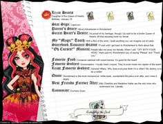 Ever After High - Lizzie Hearts' Full Bio by cjlou-the-bejeweler
