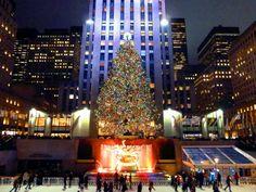 Weihnachten in New York Weihnachtsbaum Weihnachtsdekoration Rockfeller