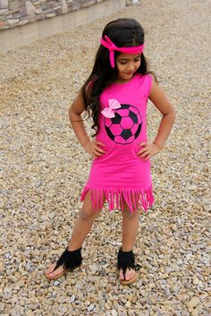 Hot Pink Soccer Fringe Dress #boutique-outfits #dresses #new #perfect-sets #spring-line