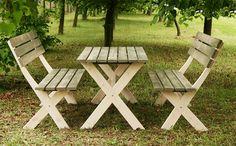 Zestaw BBKD stół, 2 ławki meble ogrodowe drewniane impregnowane, cena 499 zł Woodworking Furniture, Picnic Table, Patio, Design, Home Decor, Lawn And Garden, Timber Furniture, Decoration Home, Room Decor