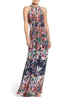 Eliza J Belted Chiffon Maxi Dress (Regular & Petite) | Nordstrom