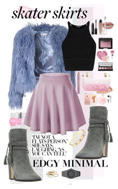 """""""Skater Girl: Skater Skirts"""" by avericleanstyle ❤ liked on Polyvore featuring Glamorous, Dune, Moschino, RAJ, Christian Dior, NARS Cosmetics, Bobbi Brown Cosmetics, Bare Escentuals, River Island and Guerlain"""