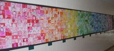 first day of school project. . . each grade has a color and staff has the 6th