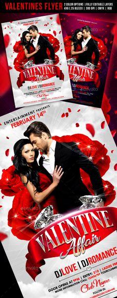 Valentine Affair Flyer - Events Flyers