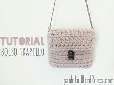 Cómo hacer un bolso de trapillo con solapa - YouTube