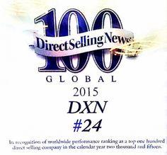 Un succes imens pentru DXN în 2015! În anul 2015 DXN a atins unul dintre cele mai ambiţioase obiective, s-a clasat pe locul 24 în topul Companiilor Direct Sales din lume. - Contract de membru:  http://marticafe.dxnromania.ro/member_registration_private