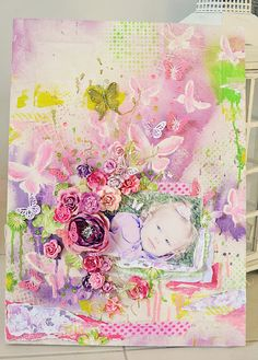 Mixed media canvas. Stacey Young.
