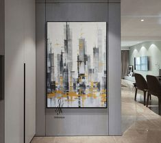 Sale!!  City Abstract Painting Artworks Cityscape Painting On Canvas by Julia Kotenko