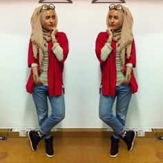 Street Hijab Fashion.. Sporty yet stylish