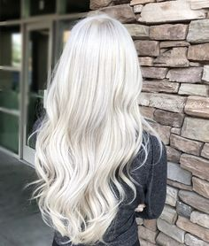Long Platinum Blonde hair. Long icy blonde hair!
