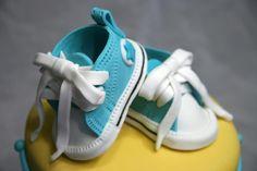 #babyshower, #cake, #converse    amazing cake! made by kimmyskakes.com