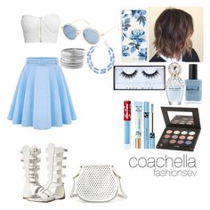 """""""Coachella"""" by fashionsev ❤ liked on Polyvore featuring WithChic, NLY Trend, C Label, Cynthia Rowley, Sunday Somewhere, Sonix, Lauren B. Beauty, Huda Beauty, Marc Jacobs and It Cosmetics"""
