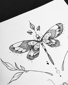 Outstanding cute tattoos are offered on our web pages. Read more and you will not be sorry you did. Line Tattoos, Body Art Tattoos, Cool Tattoos, Tatoos, Awesome Tattoos, Dragonfly Art, Dragonfly Tattoo, Floral Thigh Tattoos, Flower Tattoos