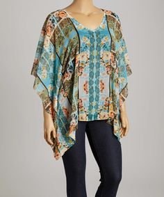 Another great find on #zulily! Tiny Roses Cape-Sleeve Top - Plus by Sienna Rose #zulilyfinds