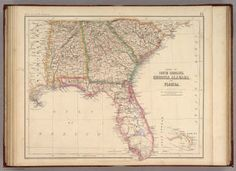 States Of South Carolina, Georgia, Alabama, And Florida. / Rogers, Henry Darwin ; Johnston, Alexander Keith, 1804-1871 / 1857