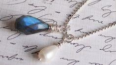 Handmade Medium Teardrop Fresh Water Pearl by AngelWearDesigns2013