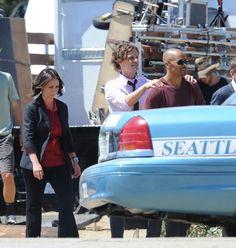 Jennifer Love Hewitt, Matthew Gray Gubler and Shemar Moore filming Season 10