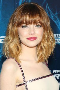 Emma Stone : son évolution du blond au roux en 16 coiffures   Le Figaro Madame