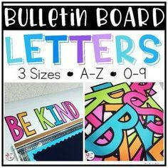 Bulletin Board Letters {ALL CAPS}