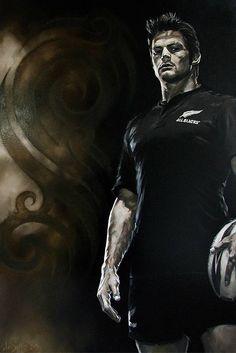 All Black captain Richie Macaw by David Sotogi