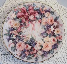 Lena Liu CIRCLE OF ELEGANCE 2nd Floral Greetings Series Bradford Ex Plate Mint