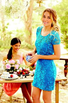 blue lace dress from the LC Lauren Conrad Kohls collection love this