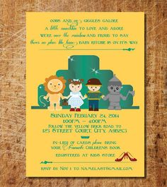 Lohri invitation his hers wizard of oz shower invite printable invitation by vibrancedesigns 1800 stopboris