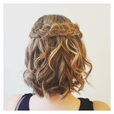 50 Hottest Prom Hairstyles for Short Hair ❤ liked on Polyvore featuring hair styles