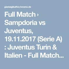 Full Match › Sampdoria vs Juventus, (Serie A) : Juventus Turin & Italien - Full Matches Turin, Full Match