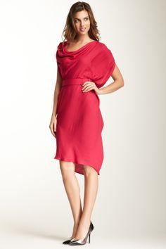 Sleeveless Belted Draped Dress