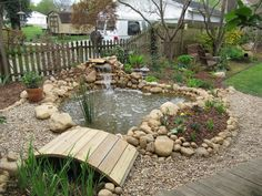 Awesome Backyard Pond Design, but it'll need to be much,much smaller!