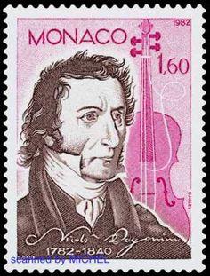 Niccolo Paganini auf Briefmarke aus Monaco