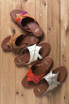 Lynette Thong: Colorful, comfortable sandals keep you looking on the bright side.
