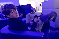 Ty Simpkins at the airport