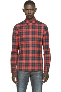 e91669708ce Givenchy for Men AW15 Collection Black Plaid Shirt