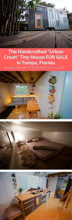"""THE HANDCRAFTED """"URBAN CRASH"""" TINY HOUSE FOR SALE IN TAMPA, FLORIDA"""
