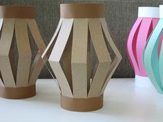 Homemade Luau Party Paper Tiki Lantern!