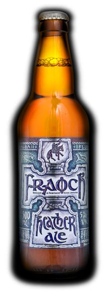 Fraoch: - The Original Craft Beer; brewed in Scotland since 2000 B.C. A light amber ale with floral peaty aroma, full malt character, and a spicy herbal finish - This beer allows you to literally pour 4000 years of Scottish history into a glass.