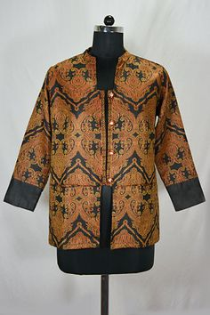 Black Printed Shawl Jacket