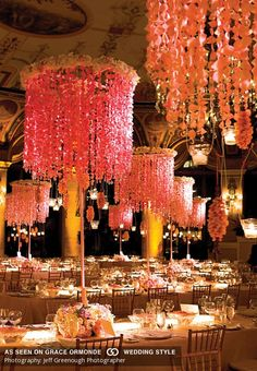 luxury chandelier tabletop wedding idea