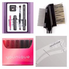 good morning ! we have a little special this month for brow products with stencils that just got even better   FOR FREE * All 7 lip stain samples (you can not buy these EVER)  * Our amazing eyelash comb/ brush * Eyebrow stencils With the Brow liner and gel in your shade, tweezers, liner/shader brush and highlight pigment!  If this tickles your fancy and you want to know how to use the brow products to get yourself some gorgeous brows, let me know ☺️