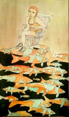 12 memories by Joy Zimmerman Multimedia  (Sharpie, paint wash, India ink)