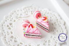Серьги «Глазированный торт»  