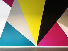 A cool geometric wall.